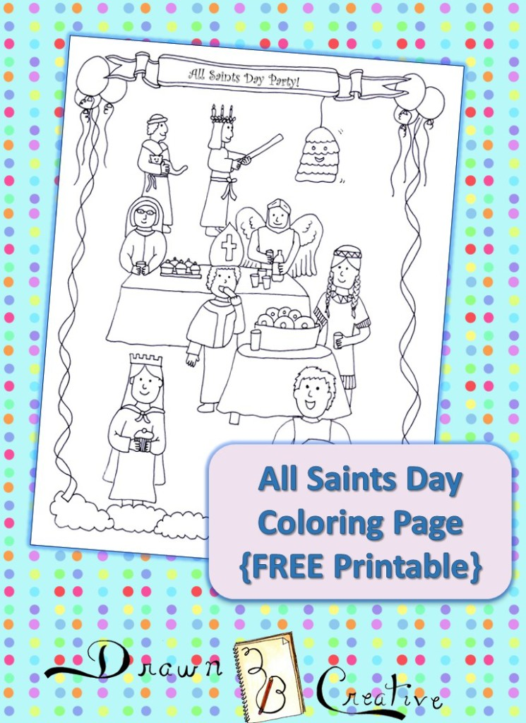 All saints day coloring page drawn2bcreative for All saints day coloring pages