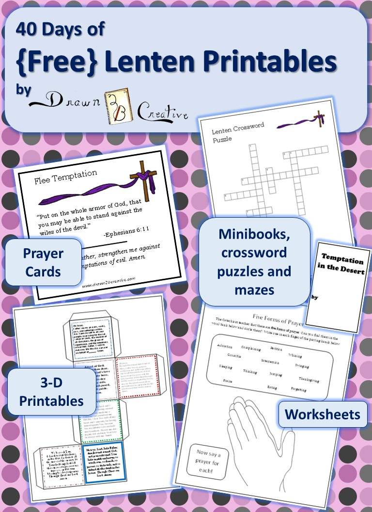 40 days of FREE Lenten Printables Drawn2BCreative