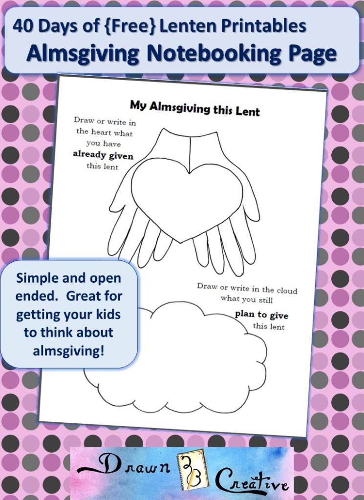 40 Days Of Lenten Printables Almsgiving Page