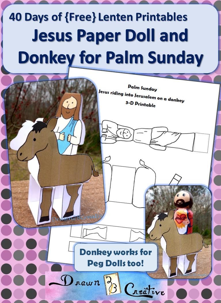 40 Days of Free Lenten Printables: Palm Sunday 3-D Craft ...