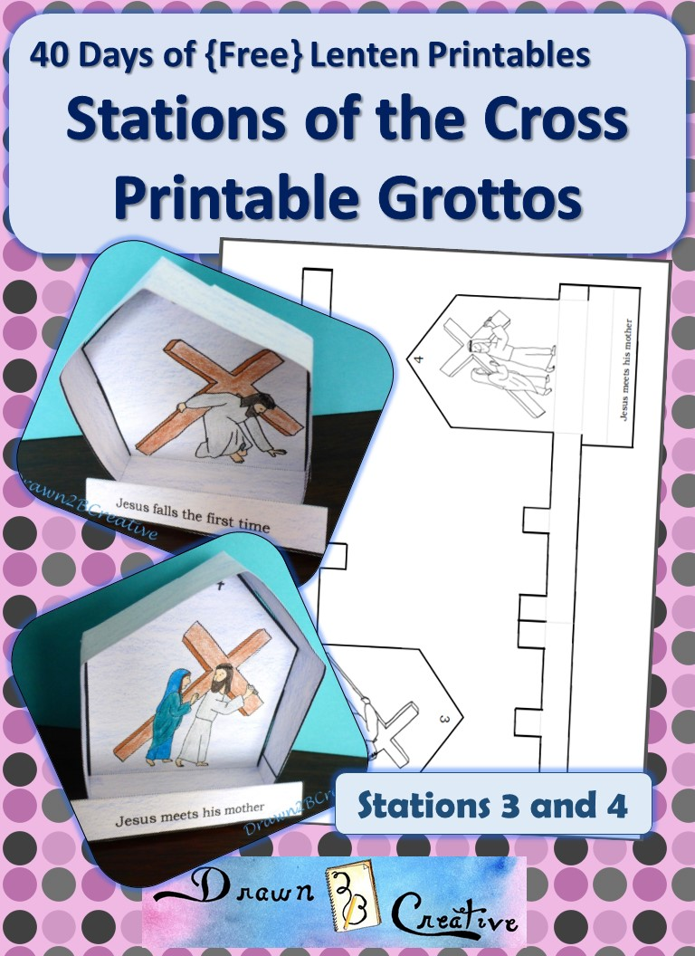 40 Days Of Free Lenten Printables Stations 3 And 4