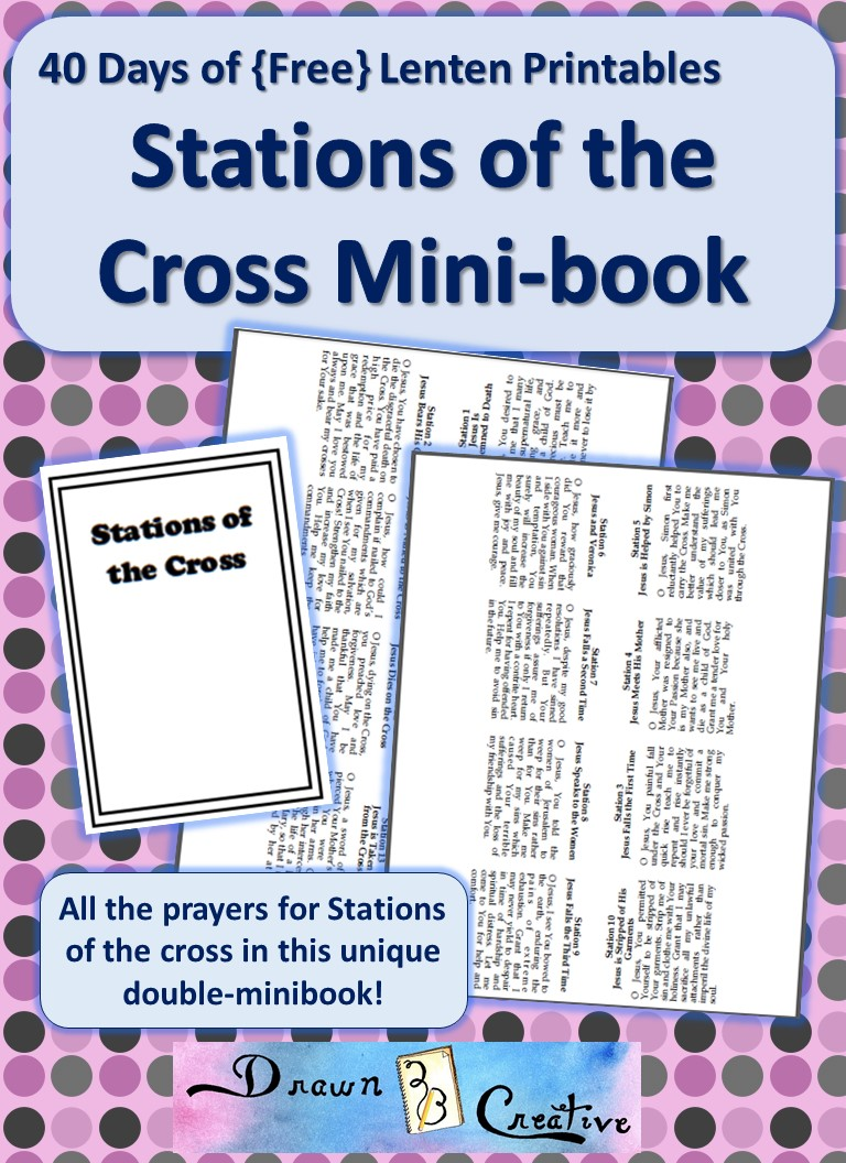 photo about Stations of the Cross Prayers Printable titled 40 Times of Totally free Lenten Printables: Stations of the Cross