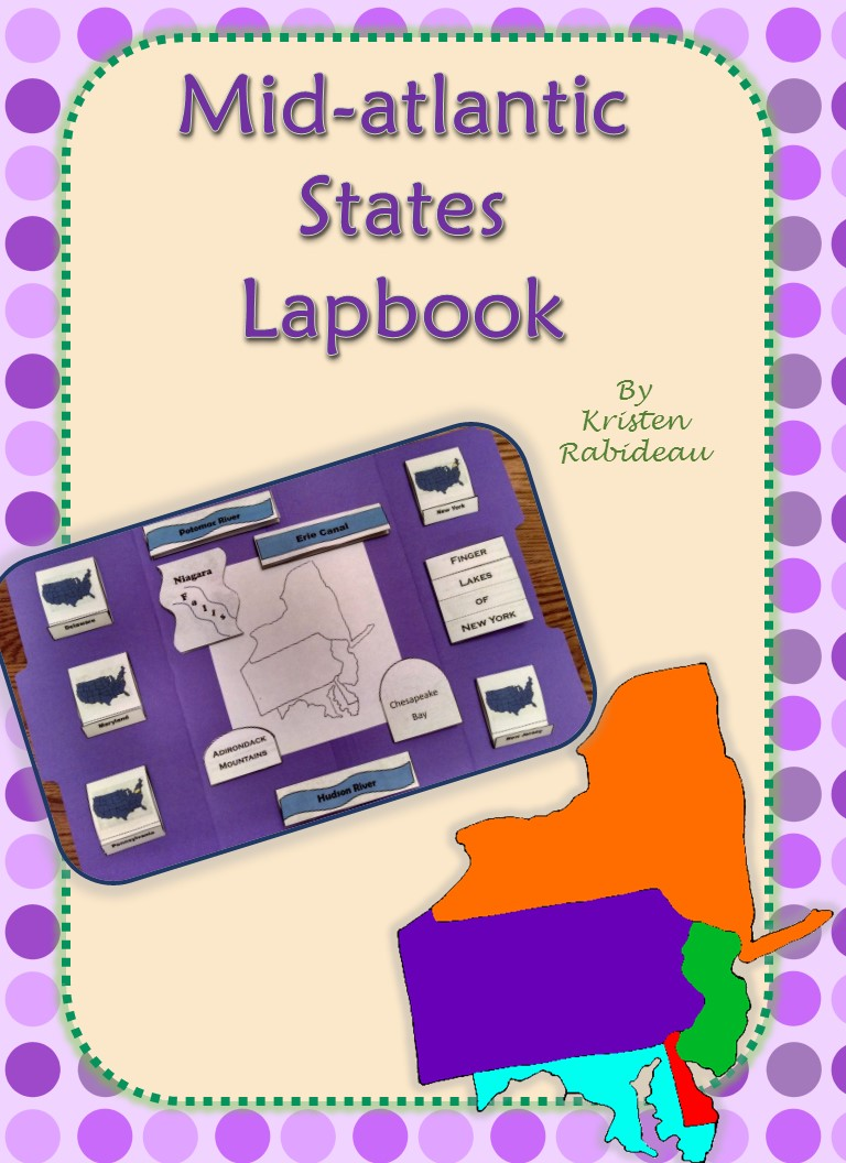 Mid Atlantic States Lapbook Drawn2bcreative