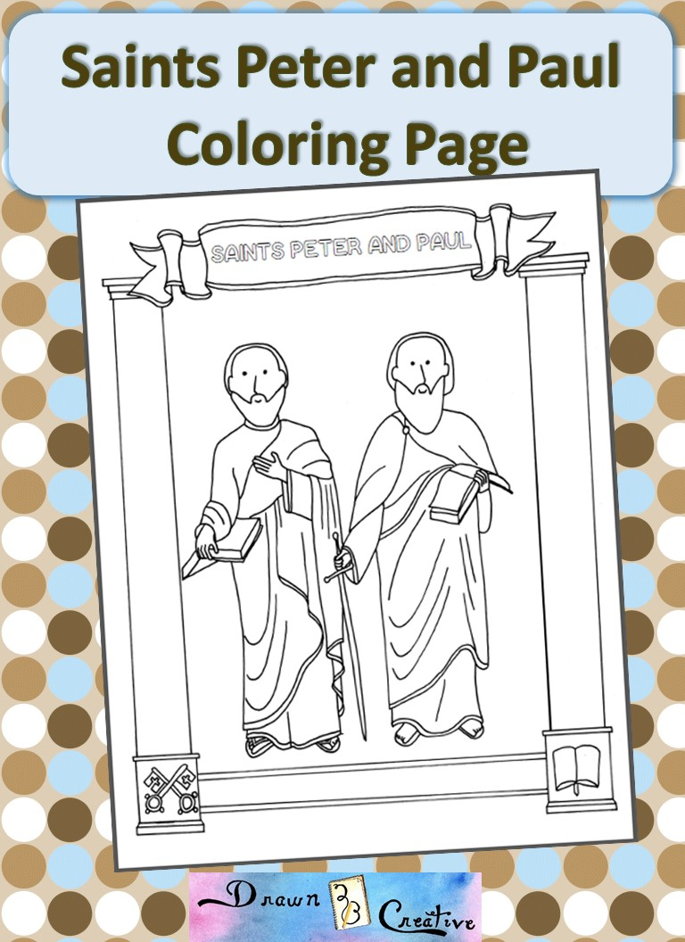 saints peter and paul coloring page drawn2bcreative