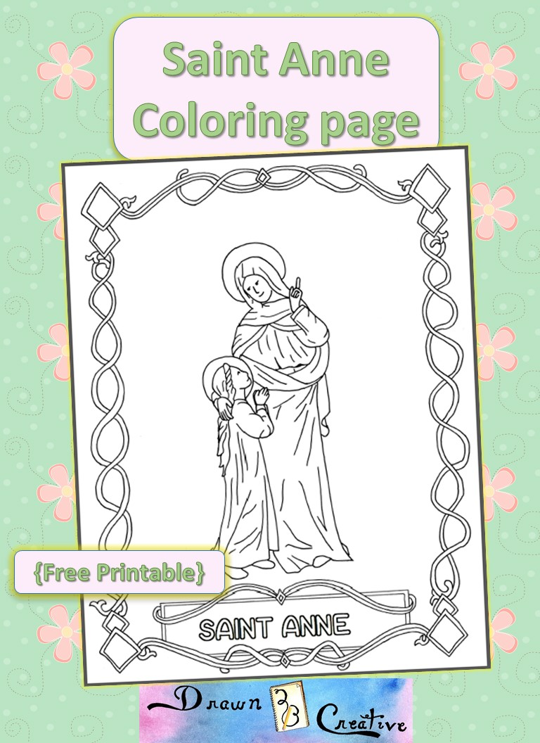 Saint Anne Coloring page
