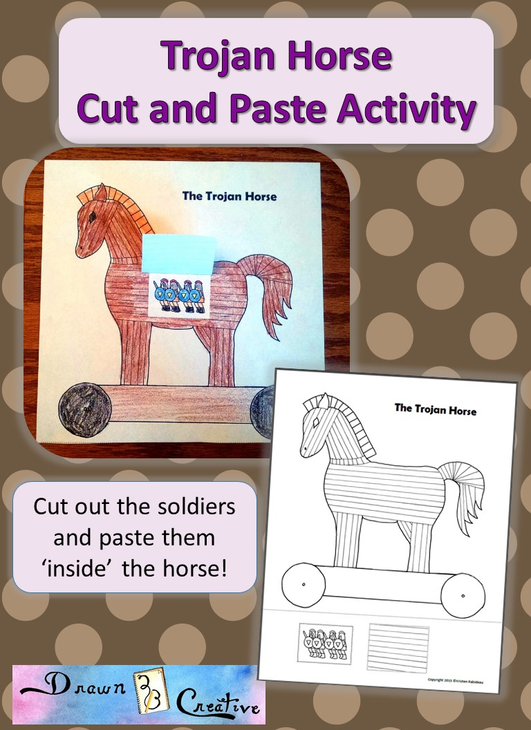 Trojan Horse Printable Drawn2bcreative
