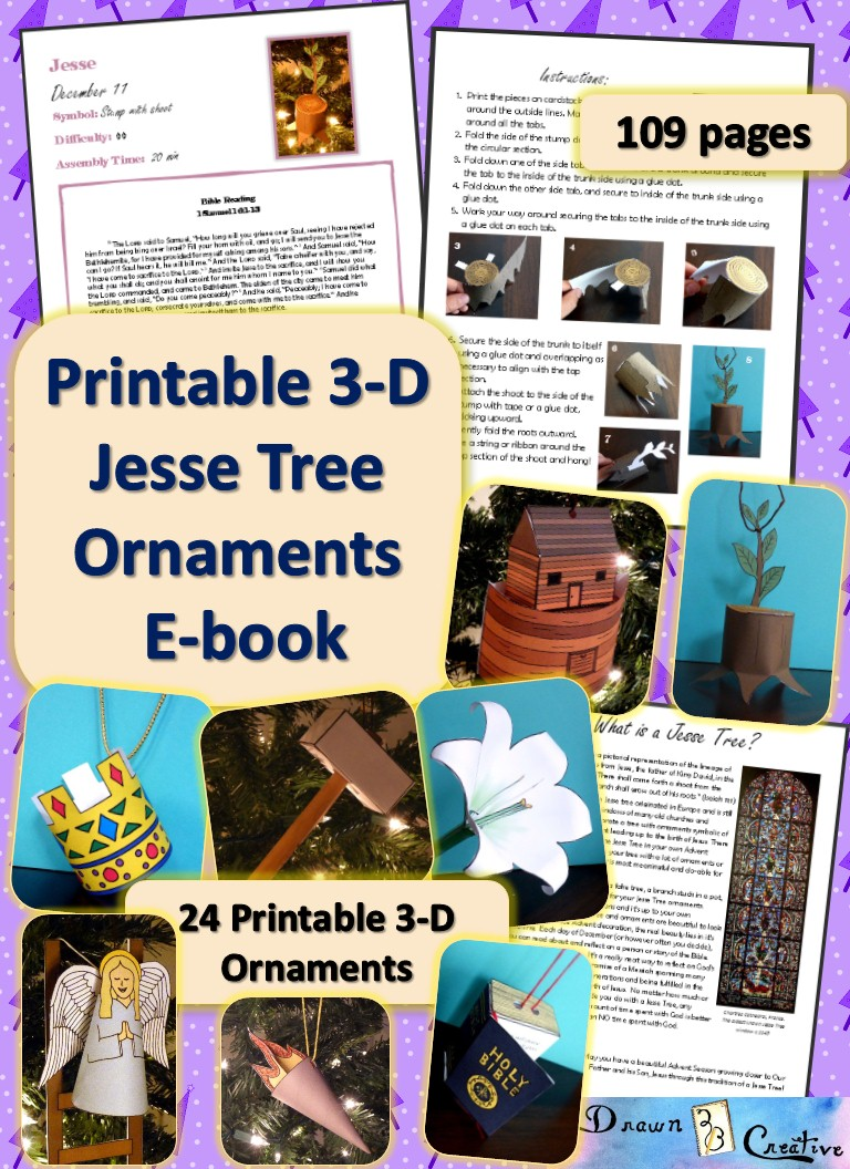 jesse tree 3 d printable ornaments e book drawn2bcreative