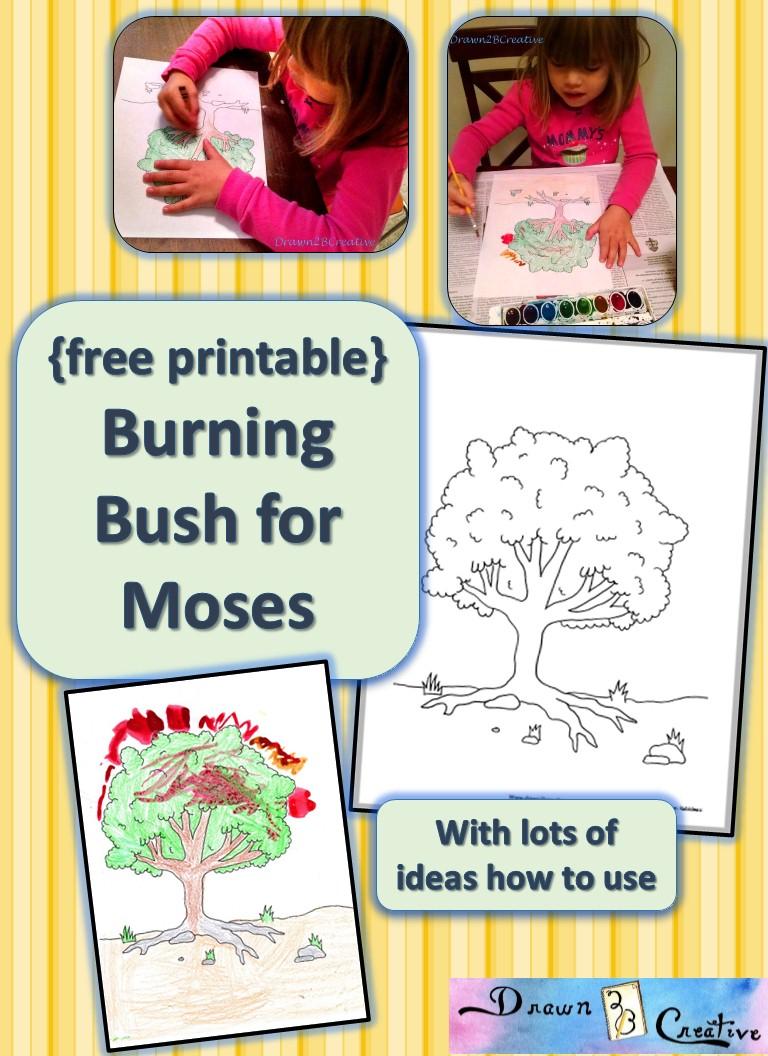 A Printable Bush To Burn Drawn2bcreative
