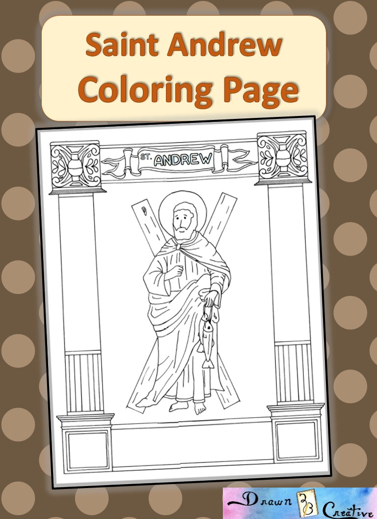 saint andrew coloring page drawn2bcreative