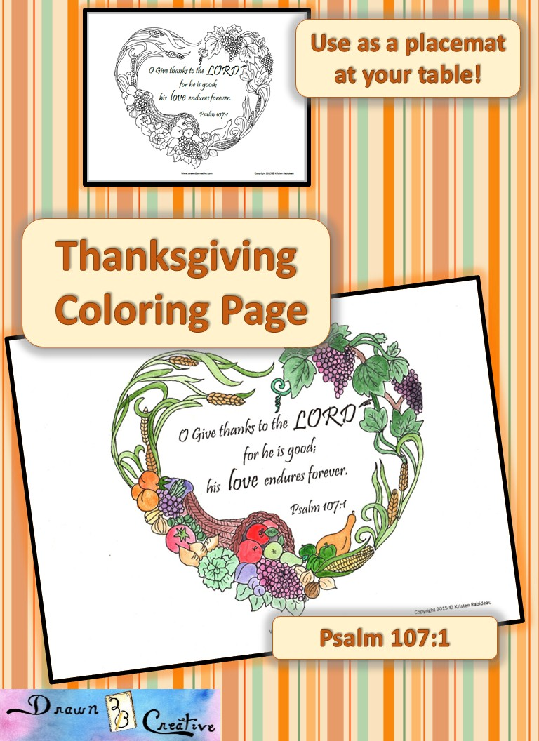 Thanksgiving Coloring Printable