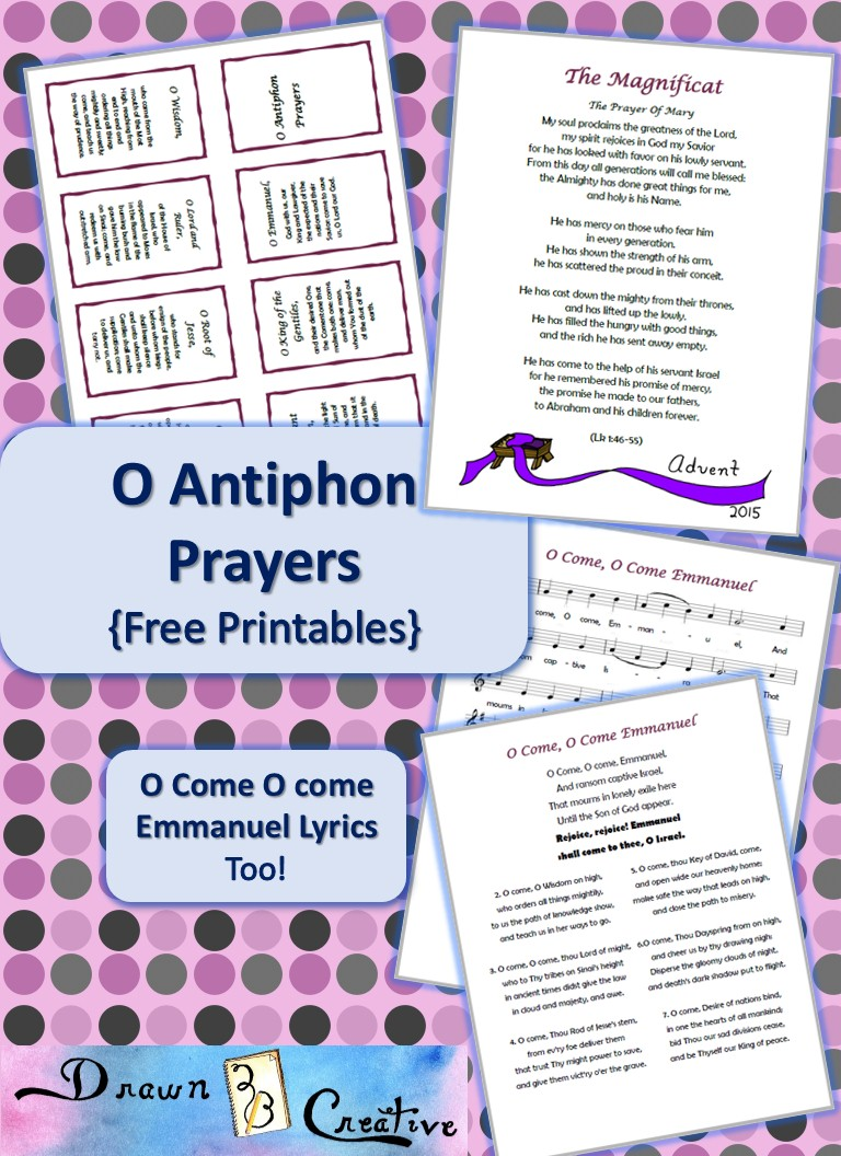 o antiphons  free printables  drawn2bcreative  free printable serenity prayer coloring page