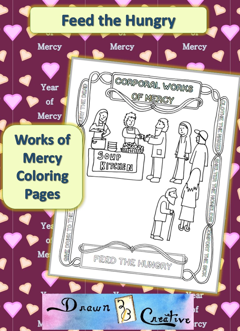 works of mercy coloring pages - photo#6