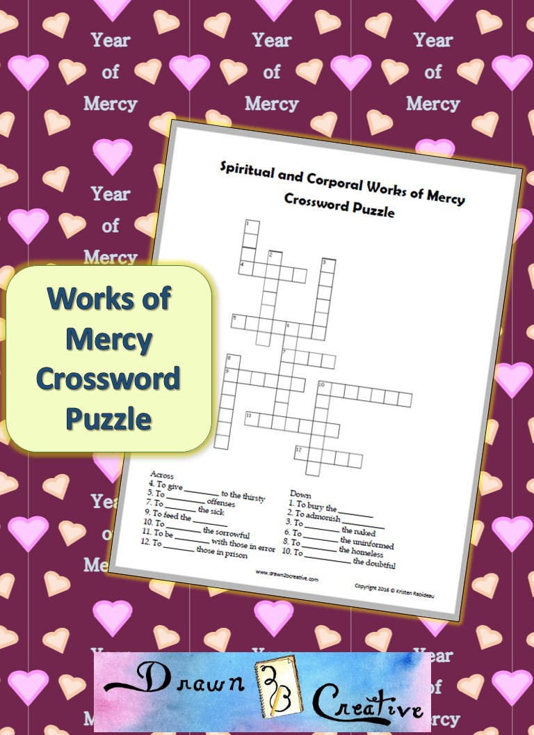 Works of Mercy Crossword Puzzle Drawn2BCreative