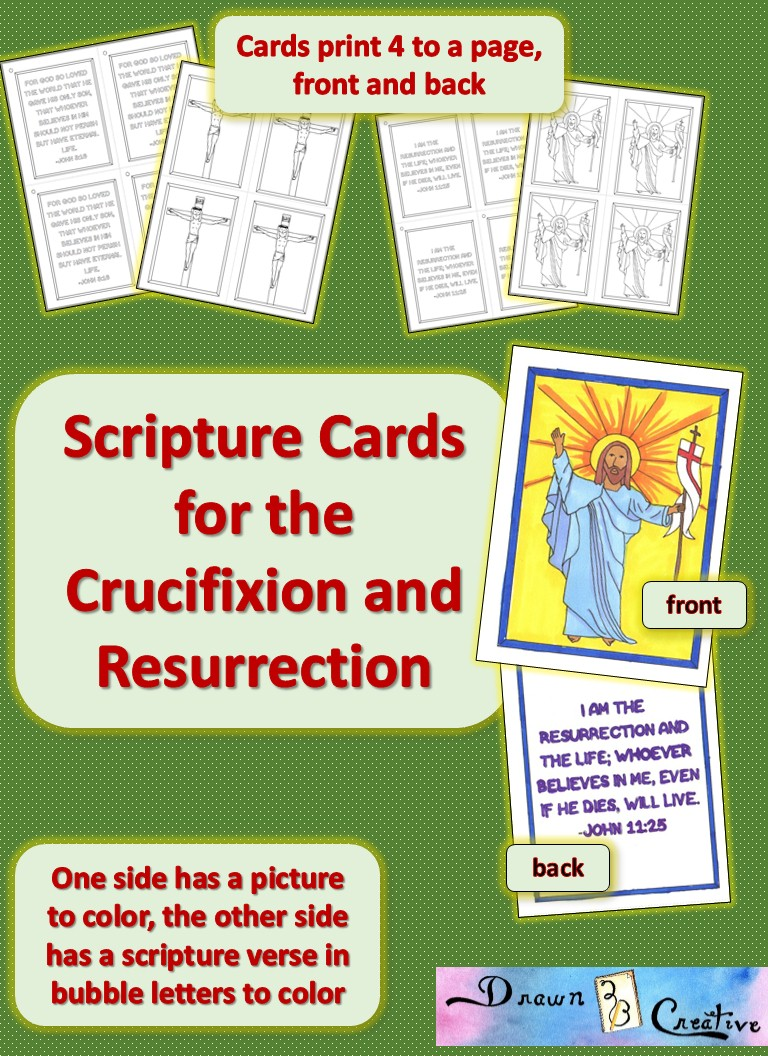Scripture Cards for the Crucifixion