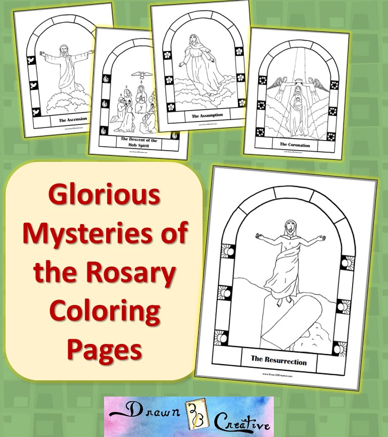 glorious mystery coloring pages - photo#9