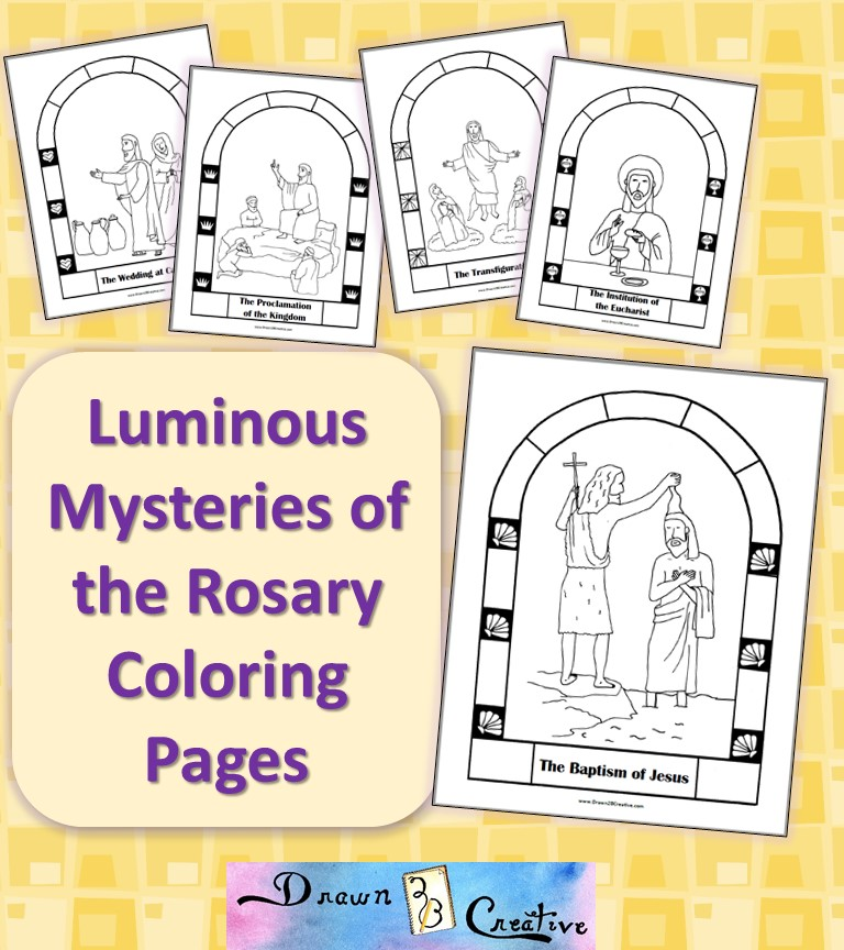 The Fourth Luminous Mystery- The Transfiguration - Coloring ...