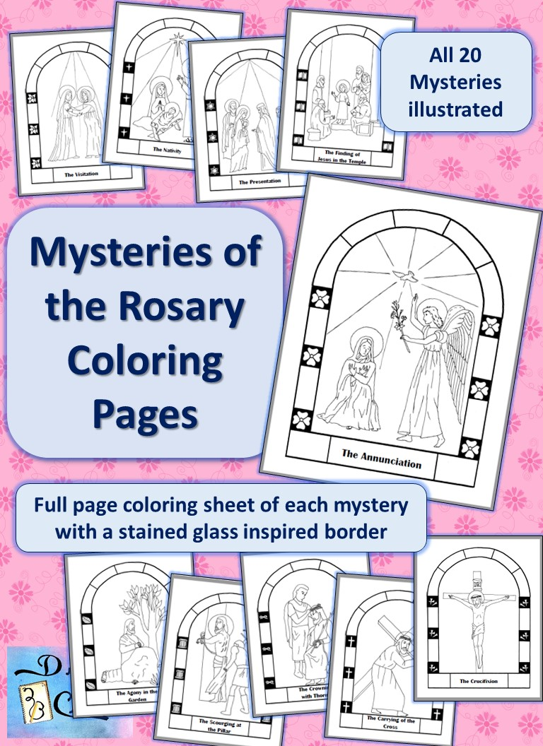 coloring pages on the rosary - photo#9