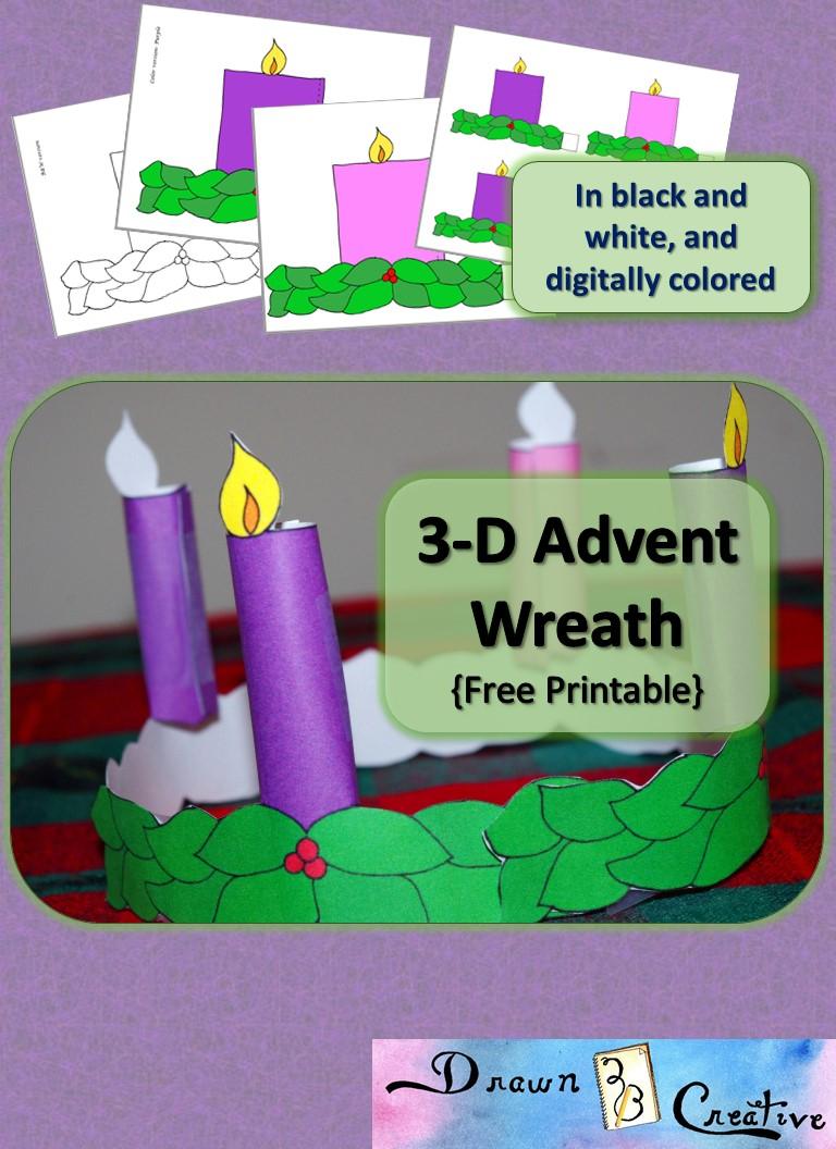 3D Printable Advent Wreath Drawn2BCreative