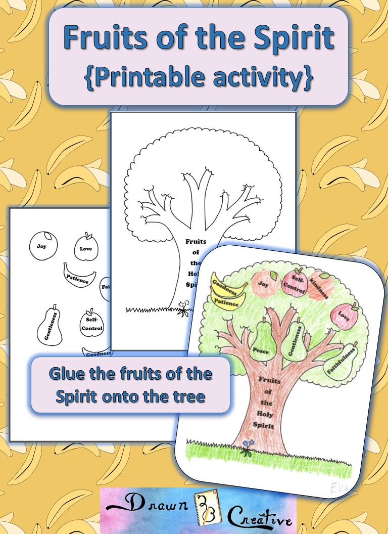 fruit of the spirit crafts fruits of the spirit printable activity drawn2bcreative 6607
