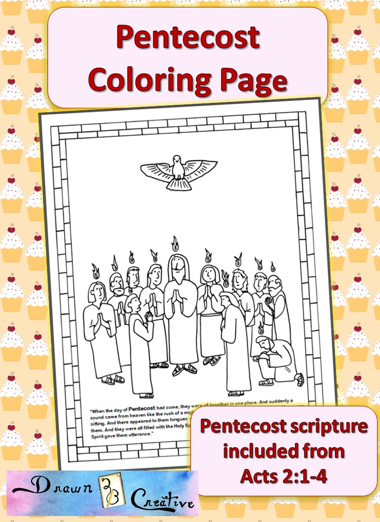 Pentecost Coloring Page Drawn2bcreative