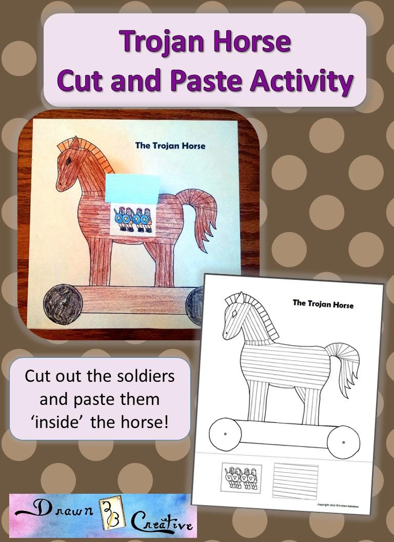 Trojan Horse Printable Drawn2BCreative