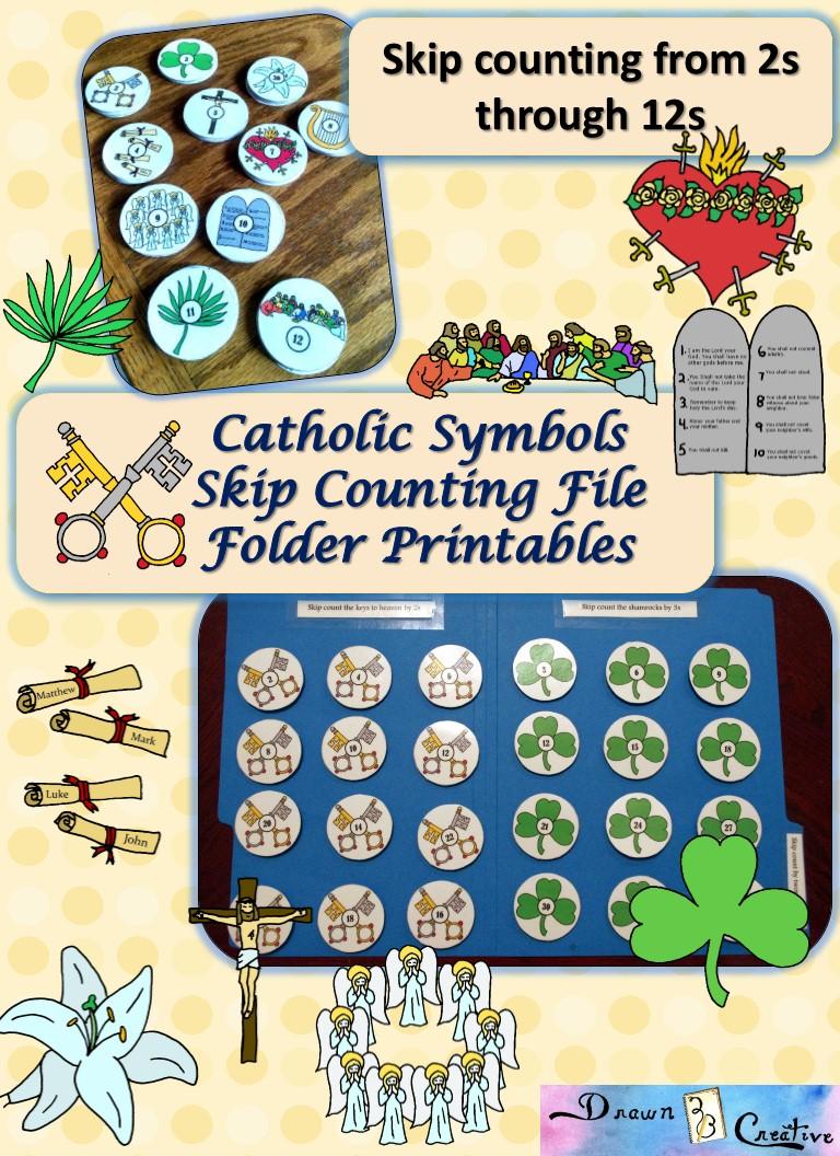 Catholic Skip Counting File Folder